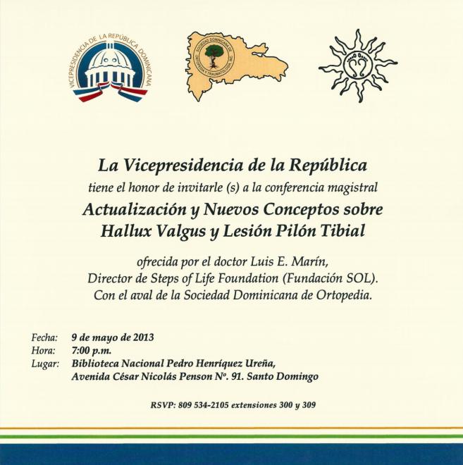 Invitación: Actualización y Nuevos Conceptos sobre Hallux Valgus y Lesión Pilón Tibial