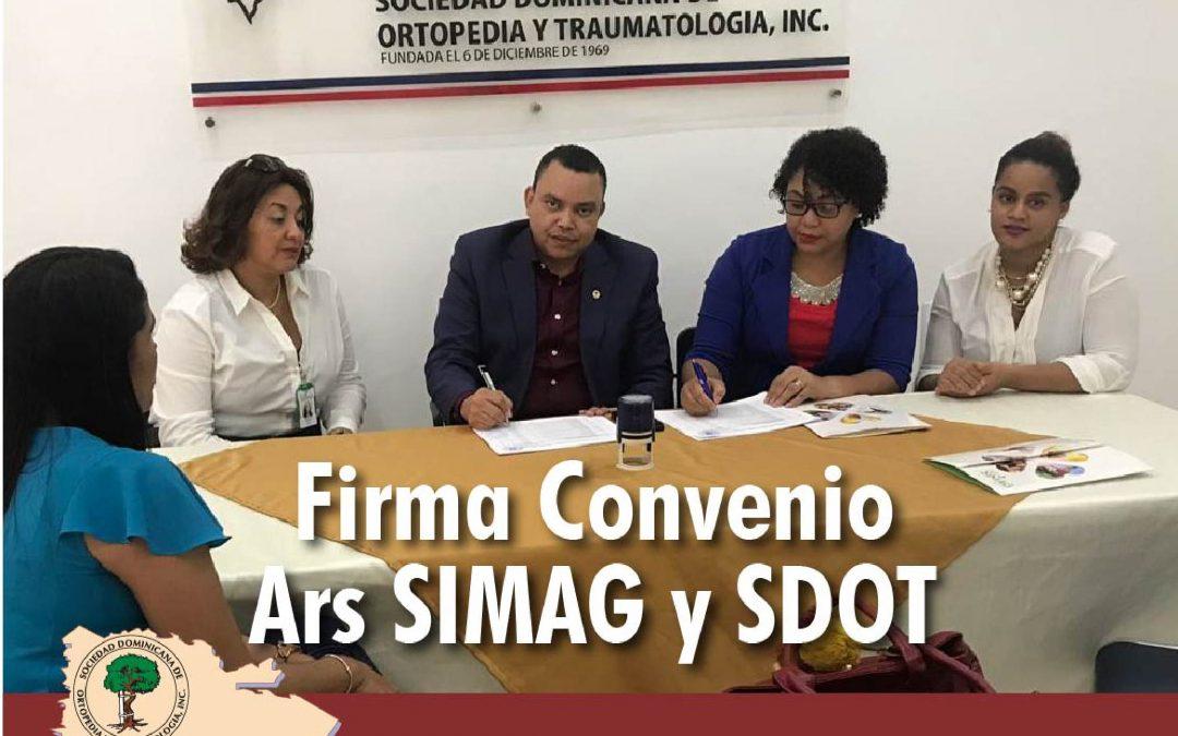 Sociedad de Ortopedia firma acuerdo con ARS Simag
